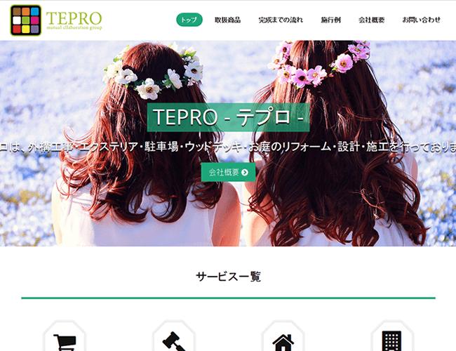 株式会社TEPRO (テプロ)様 HP